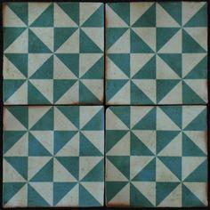 Victorien Reproduction carreau de 150 mm x 150 mm Square 2 couleurs