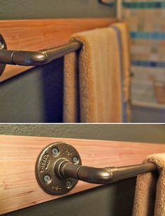 DIY Projects with Pipe! • Great Ideas and Tutorials! Including, from 'this sorta old life', this awesome DIY towel rack project.