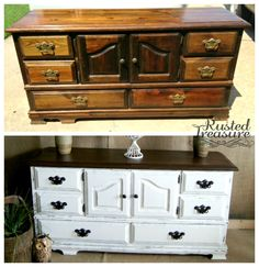 White Buffet (Before and After)