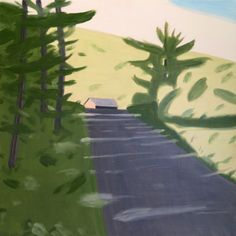 Alex Katz (American, b. 1927), Road, 2015. Oil on linen, 182.9 x 182.9 cm.