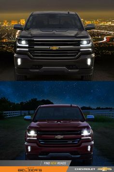 No matter the landscape. Chevy Silverado lights up the night.