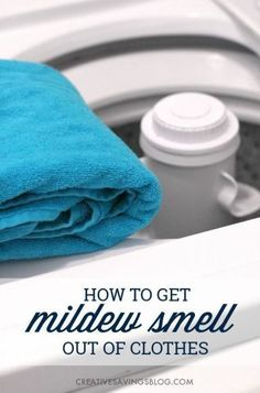 Accidentally left your clothes in the washer for too long? You don't want to miss this super simple {and thrifty} trick to get mildew smell out of clothes. It costs just pennies and will leave your favorite tops and towels smelling clean and fresh!
