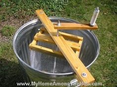 homemade honey extractor