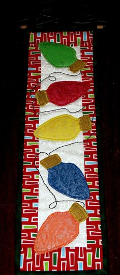 Christmas table runner...not a dollar store craft, just wanted you to see