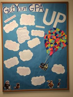 My academic success bulletin board this semester. RA