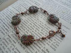 earthy snail bracelet by ljctree on Etsy, $6.00