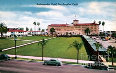 An enlarged vintage postcard view of the Ambassador Hotel in Los Angeles.  (Sad Hill Archive / Sad Hill Archive)