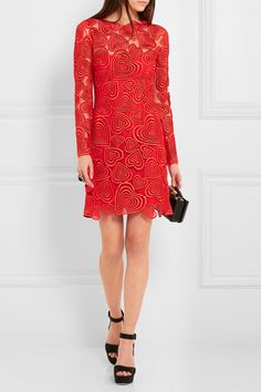 Christopher Kane | Lara guipure lace mini dress | NET-A-PORTER.COM