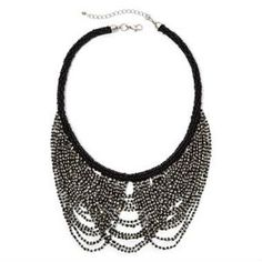 Silver-Tone  Black Seedbead Peter Pan Necklace at JCPenney
