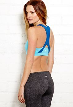 Medium Impact - Cross Back Sports Bra | FOREVER21 New year, new you #Active #Workout #Exercise