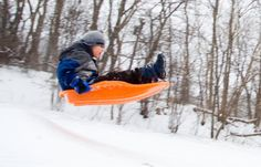 Sledding is a great way to get some fresh air - and catch some air, too!