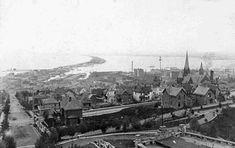 Pre-lift bridge view of Duluth Minnesota, 1890's?