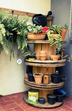 pallet cable reel planter plan #recycledpallets