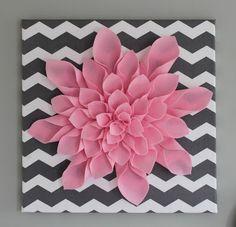 all things DIY: Chevron Flower Canvas Art