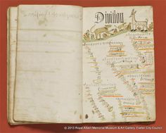"""""""Division"""", from William Ellis His Book of Arithmetick, an 18th century schoolboy's exercise-book in the collection of the Royal Albert Memorial Museum & Art Gallery, Exeter"""