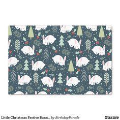 Little Christmas Festive Bunnies Tissue Paper Christmas Gift Wrapping, Christmas Gifts, Christmas Tree, Corner Designs, Little Christmas, The Wiz, Tissue Paper, Happy Holidays, Reindeer