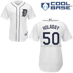 http://www.xjersey.com/tigers-50-bryan-holaday-white-cool-base-jerseys.html Only$43.00 TIGERS 50 BRYAN HOLADAY WHITE COOL BASE JERSEYS Free Shipping!