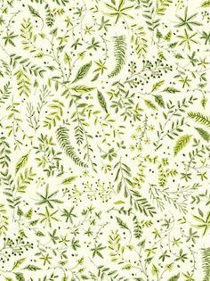 Nature foliage green print + pattern design inspiration for creatives by Vikki Chu Illustration Inspiration, Pattern Illustration, Pretty Patterns, Beautiful Patterns, Surface Pattern Design, Pattern Art, Nature Pattern, Plants Pattern, Green Pattern