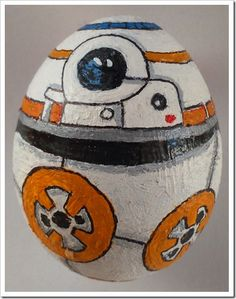 Eggcellent BB-8 Easter Egg made by Pawel on Deviant Art