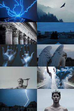skogsrå — zeus aesthetic (more here) Witch Aesthetic, Aesthetic Collage, Character Aesthetic, Blue Aesthetic, Greek Mythology Gods, Greek Gods And Goddesses, Roman Mythology, Wallpaper Tumblrs, Photomontage