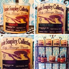 Annie Soapley Body Candles - $24.00 - Take your lotion to the next level with a heated body oil massage.  Burns like a candle, producing a beautiful scent to be massaged into your skin.  You'll be feeling soft and smelling wonderful all day.     Great Valentine's Gift! | GracieGene's Boutique - Garden Ridge, TX