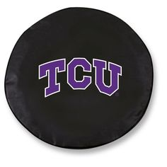 TCU Horned Frogs Black Tire Cover w/ Security Grommets