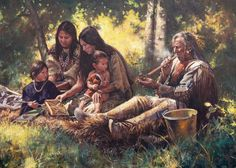 Image result for native american colonial times paintings jackets