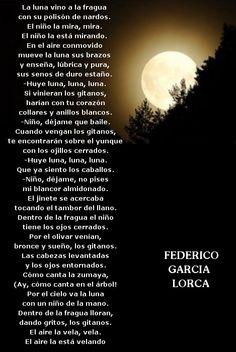 Federico Garcia Lorca- Romance de la Luna, Luna Romance, Best Poems, Pablo Neruda, Text Quotes, Playwright, Some Words, Dating Tips, Beautiful Words, Spanish