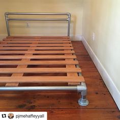 #Repost @pjmehaffeyyall (via @repostapp) Installed this pipe & flange bed for #client1760 today! Thx @mrwhiteslate & @dkhigh & @simplifiedbuilding Blog tutorial coming soon! #alchemyeclectic #pjdecor #pjdiy #diy #howto #berkshires #otis #otismass #industrial #industrialdesign #interior #interiors #design #decorate #keeklamp #keeklamppipebed #interiordesign #bedframe #diybedframe