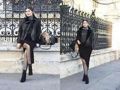 Get this look: http://lb.nu/look/8546035  More looks by Diana Ior: http://lb.nu/dianaior  Items in this look:  Zara Turtleneck Jumper, H&M Fishnet Top, Zara Skirt, H&M Boots, Sheinside Bag   #chic #classic #minimal #inspo #outfit #winter #skirt #black #blackoutfit