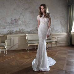 Long Sleeve Lace Mermaid Style Gown – Avail up to Plus Size 26W :: Autumn…