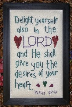 Delight in the Lord - Cross Stitch Pattern
