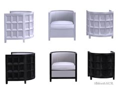 Contemporary Furniture Set for a Bathroom inspired by the Designer JeanLouisDeniot Found in TSR Category 'Sims 4 Living Chairs' Find Furniture, Furniture Sets, Sims 4 Custom Content, Contemporary Furniture, Lounge, Bathroom, Sims Games, Ts4 Cc, Chairs