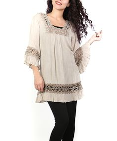 Look what I found on #zulily! Shoreline Faun Crochet Ruffle Tunic - Plus by Shoreline #zulilyfinds
