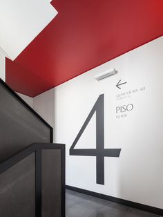 Floor Signage, Wayfinding Signage, Youth Center, Entrance, Numbers, Stairs, Flooring, Interior Design, Signs
