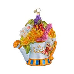 Beautiful Christopher Radko Gardening Pail Ornament - Ornament Reviews