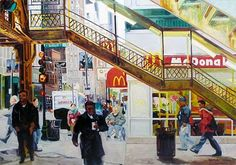"""""""Wabash Morning"""" oil painting by Emily Rapport. From Chicago Art Leasing: http://chicagoartleasing.com/painting-detail.php?id=2681=105"""