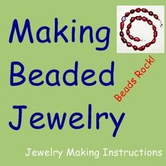 Beading for Beginners...Never made jewelry? Use this easy beading  technique and jewelry finding to make a bead necklace!