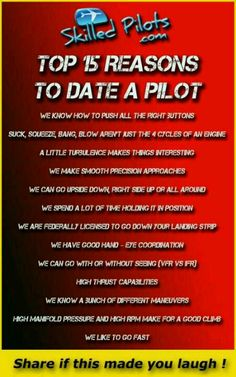 Date a pilot, or marry one like I did!