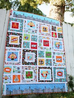 Superhero Baby Quilt (from Better Off Thread)