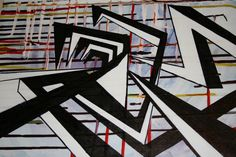 Wyndham Lewis - blast More jagged lines with lots of black. Wyndham Lewis, Modernist Movement, Gcse Art, Painting & Drawing, Painting Abstract, Elements Of Art, Cubism, Geometric Art, Lovers Art