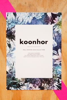 The BEST NY Fashion Week Invites #refinery29  http://www.refinery29.com/fashion-week-invites#slide11  Spring florals make us forget winter is everywhere around us. Take us away, koonhor!