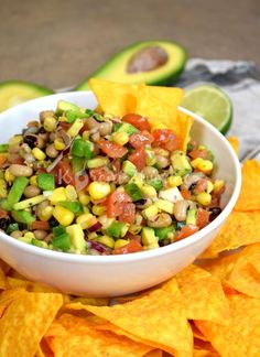 """Summer Succotash - I don't understand why this is labeled """"summer"""" when you can fix it all year round. You're already using frozen lima beans, so use frozen corn too. Side Salad Recipes, Potluck Recipes, Healthy Recipes, Potluck Meals, Healthy Meals, Food Dishes, Side Dishes, Mango Salsa Recipes, Cowboy Caviar"""