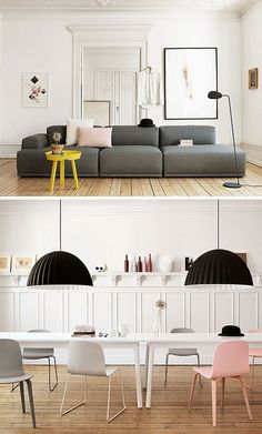 black, white & gray w/pops of color | muuto catalogue by the style files, via Flickr