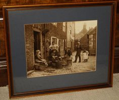 Frank M Sutcliffe Framed Photograph/Print Whitby  Girls Skaning Mussels  c1890 s