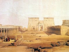 Ancient Egyptian Architecture | ancient egpyt and egyptian architectures vol 02 paintings of ancient ...