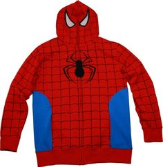 Marvel Universe Spider-Man Full Zip Hoodie Spiderman Hoodie, Full Zip Hoodie, Hoodies, Sweatshirts, Marvel Universe, Sweaters, How To Wear, Jackets, Collection