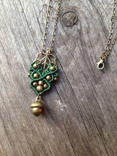 Micro macrame necklace elven jewelry macrame par creationsmariposa, $25.00