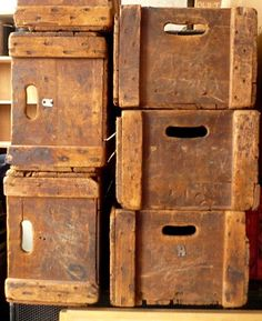 wooden crates for the pantry.I see potatoes & onions & apple storage .   I want I want I want.
