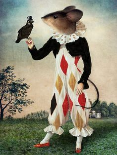 The Harlequin Mouse and the falcon by the German artist Catrin Welz-Stein